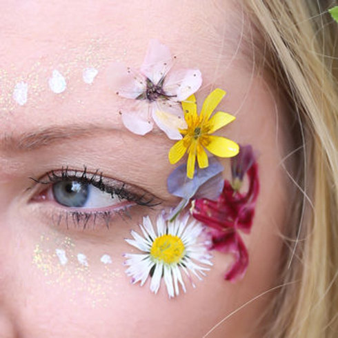 Face Florals Real Temporary Flowers and Foliage Face Kit