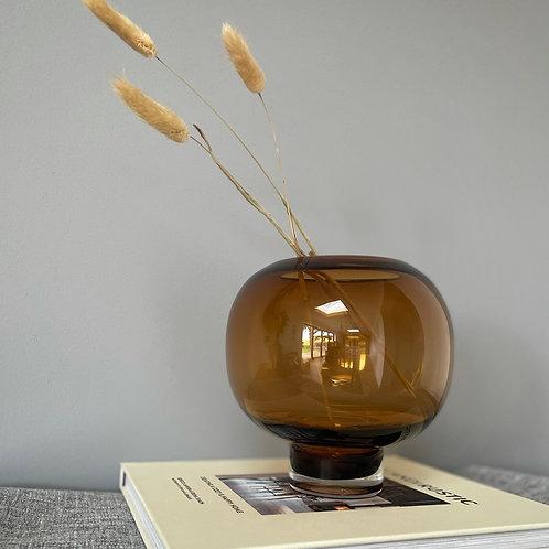 Price and Coco Interiors Round Brown Glass Vase