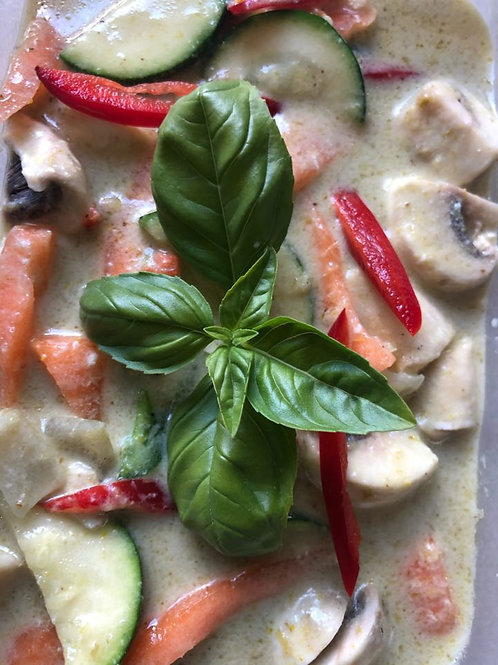 Fons Thai Takeaway Green Curry Vegetable Portion
