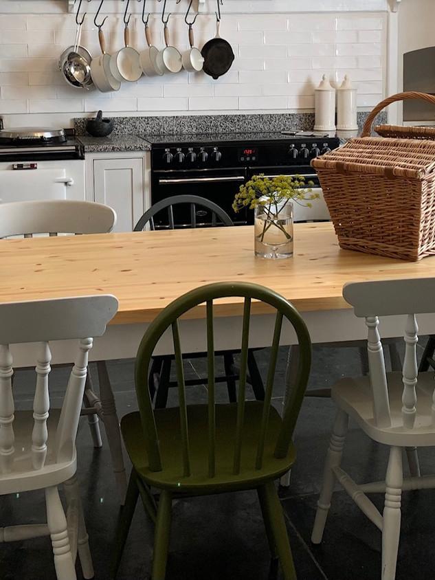 The farmhouse kitchen with Aga
