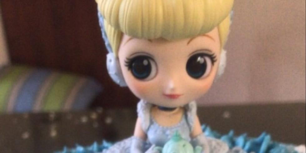 Baking cupcakes with Cinderella
