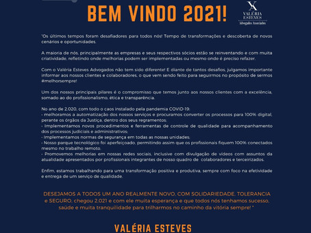 Bem vindo, 2021!