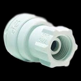"""John Guest PP3212U7W 3/8"""" Tube x 7/16""""-24 Faucet Adaptor"""