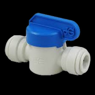 "Straight Ball Valve (John Guest 3/8"" Tube)"