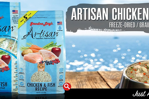 Artisan Chicken and Fish Grain-Free Cat Food, 1 or 3 Lbs