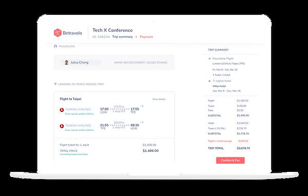 Corporate Travel Management Software - Betravelo - Hong Kong