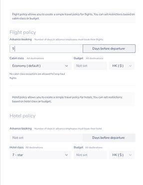 Corporate Travel Policy - Betravelo