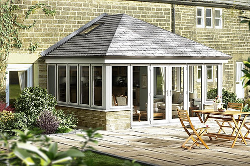 Extension with Aluminium Windows and 'Livin' Roof