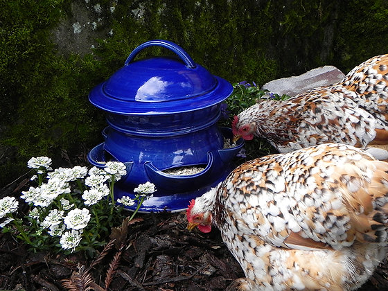 Ceramic Chicken Feeder, Large
