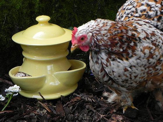 Ceramic Chicken Feeder, Small