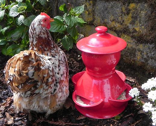 Ceramic Chicken Feeder, Medium