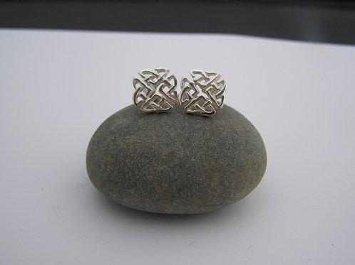 Celtic square earrings (studs)