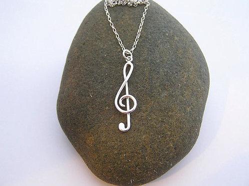 Treble clef pendant (large)