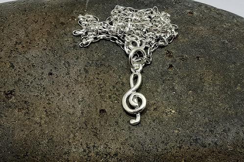 Treble clef pendant (small)