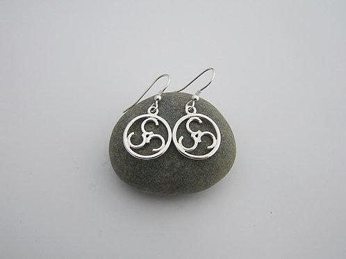 Open triskele earrings (drop)