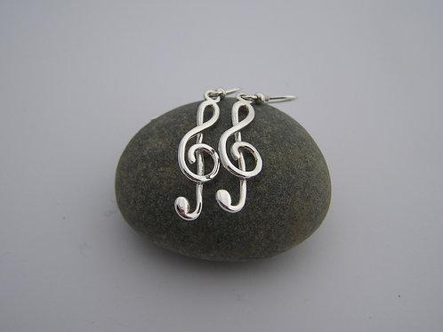 Treble clef drop earrings (medium)