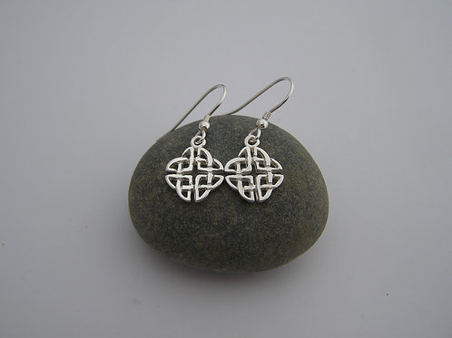 Celtic square earrings (hooks)