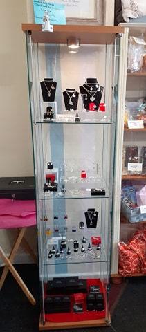 Shaz's Shabby Chic display case Celtic Treasure jewellery