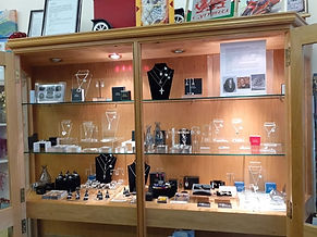 Gifted For You display case Celtic Treasure jewellery