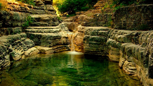 Rogovo's natural swimming pools.