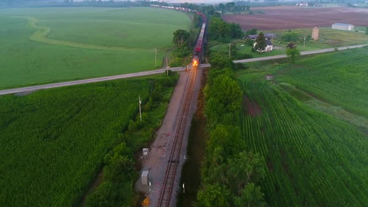 Train at dusk from 250'