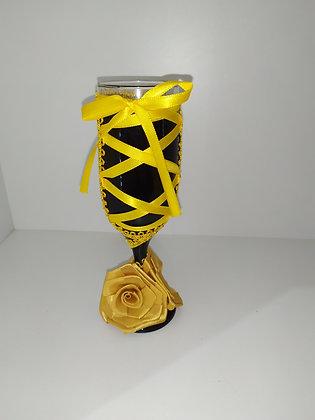 Taça Flores em tecido