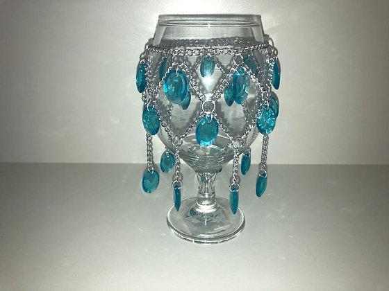 Taças decoradas Iemanjá