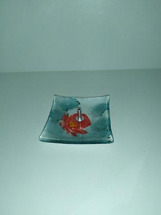 Incensário quadrado vidro
