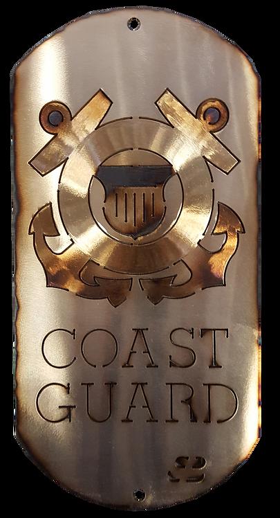 """12"""" Coast Guard Dog Tag"""