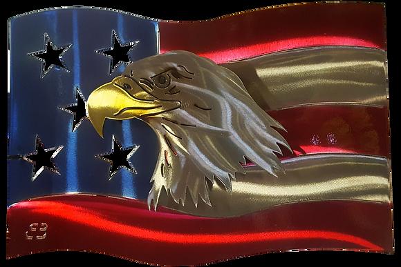 Eagle US Flag Wall Hanging