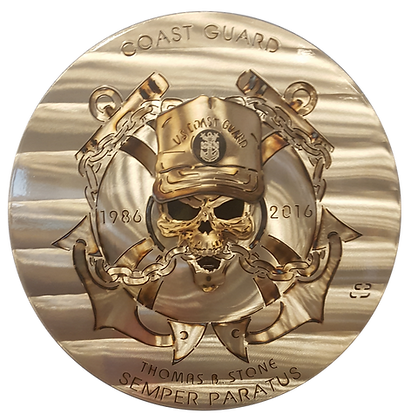 "Custom 17"" Coast Guard Medallion"
