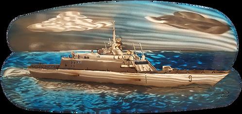 EBee Oval USS Little Rock Wall Hanging