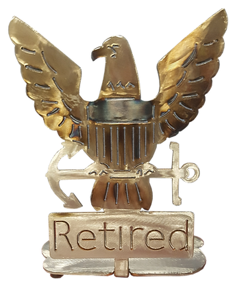 Retired USN Eagle Desk Mount