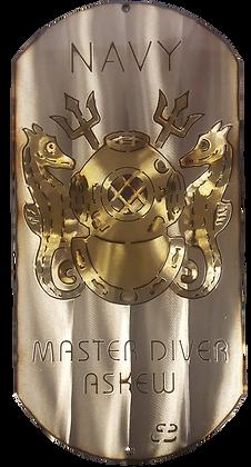 "16"" Master Diver Dog Tag"