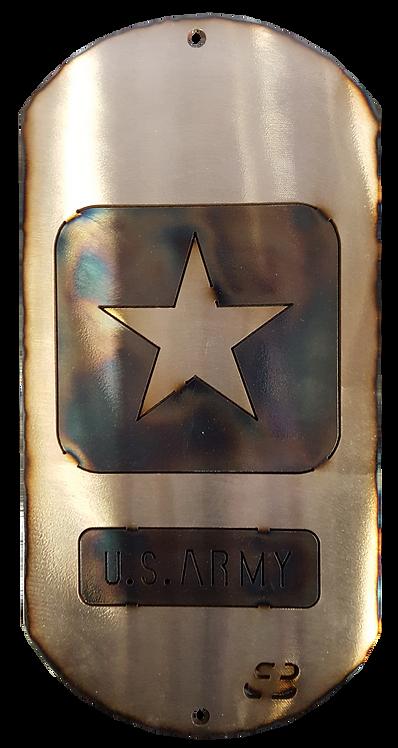 """12"""" Army Dog Tag"""