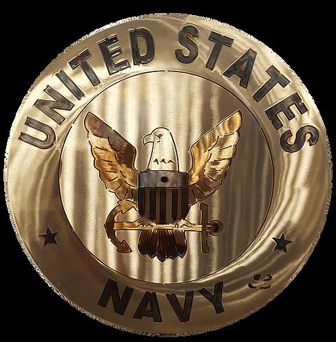 "15""  Navy Clock"