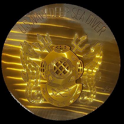 "17"" US Navy Deep Sea Diver Medallion"