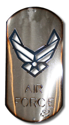 """12"""" Air Force Dog Tag"""