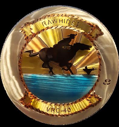 """17"""" Squadron VRC-40 Rawhides Medallion"""