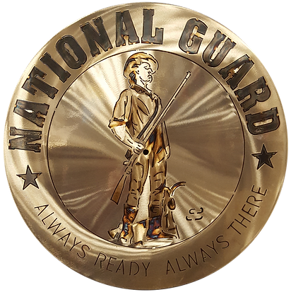 "17"" National Guard Medallion"