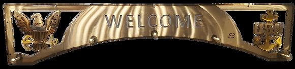 Welcome Eagle/Anchor Coat Rack