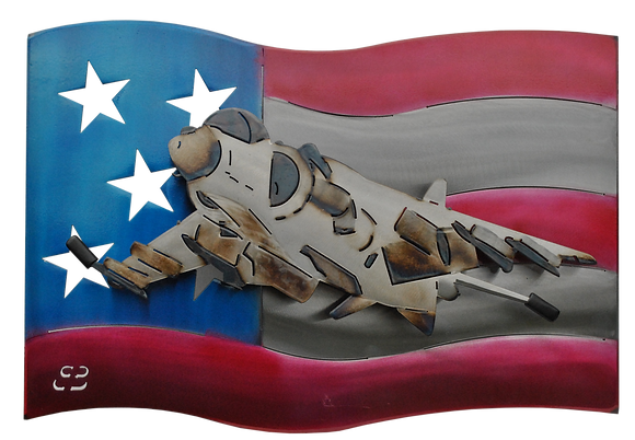 AV-8B Harrier US Flag Wall Hanging