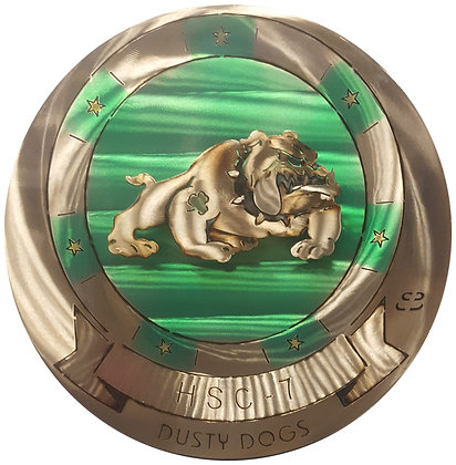 "17"" Squadron HSC-7 Dusty Dogs Medallion"