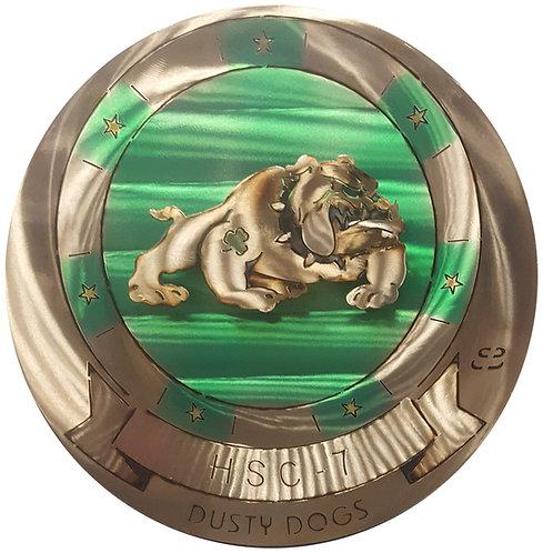 "17"" Squadron HSC-7 Dusty Dogs Medallion"