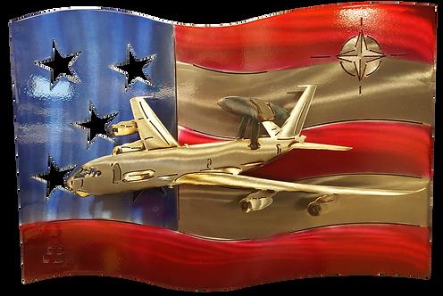 NATO Aircraft US Flag Wall Hanging