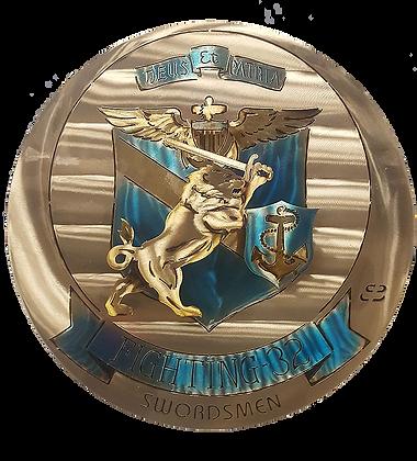 """17"""" Squadron Fighting 32 Swordsmen Medallion"""
