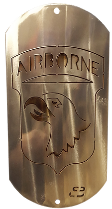 "12"" 101st Airborne Dog Tag"