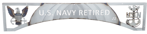 Retired US Navy Eagle & Anchor Door Arch