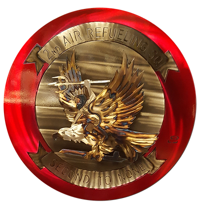 """17"""" 2nd Air Refueling Squadron Medallion"""
