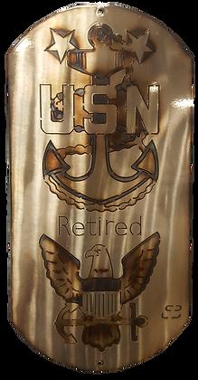 """16"""" US Navy Anchor Eagle Dog Tag"""